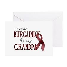 Wear Burgundy - Grandpa Greeting Card