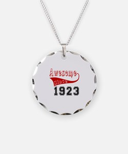 Awesome Since 1923 Birthday Necklace