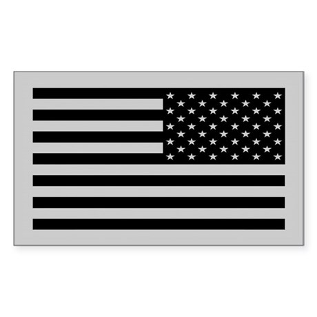 Subdued US Flag Tactical Sticker (Rectangle 10 pk)