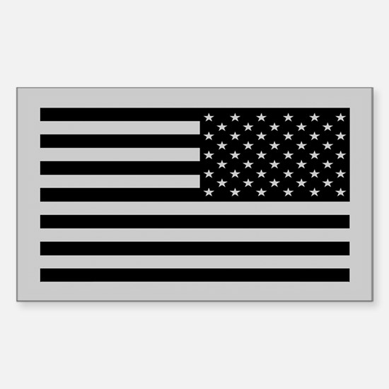 Subdued US Flag Tactical Sticker (Rectangle)