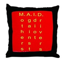 MAID..... Throw Pillow