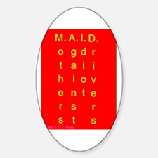 MAID..... Oval Decal