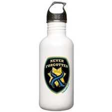 Thin Blue Line NeverForgotten Water Bottle