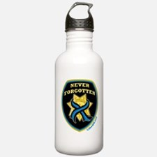 Thin Blue Line NeverForgotten Water Bottle
