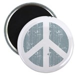 Urban Peace Sign - faded blue Magnet