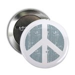 Urban Peace Sign - faded blue Button