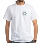 Urban Peace Sign - faded blue White T-Shirt