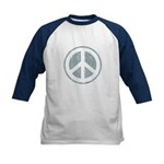 Urban Peace Sign - faded blue Kids Baseball Jersey