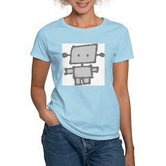 Grey Roboy Women's Pink T-Shirt