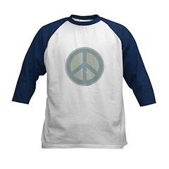 Neutral Blue Peace Sign Tee