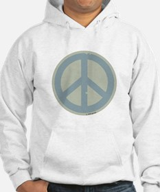Neutral Blue Peace Sign Hoodie