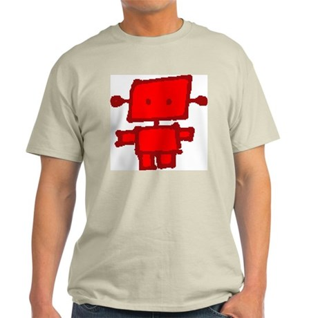 Red Roboy Ash Grey T-Shirt