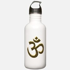 Golden Ohm & Buddha Quote Water Bottle