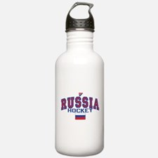 RU Russia/Rossiya Hockey Water Bottle