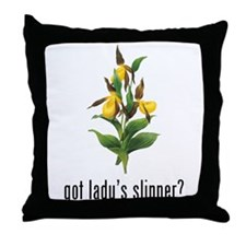 Lady's Slipper Throw Pillow