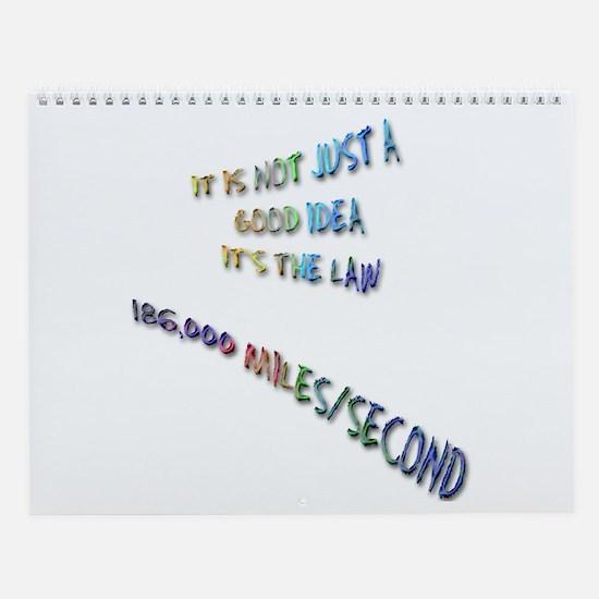 Light Speed Wall Calendar