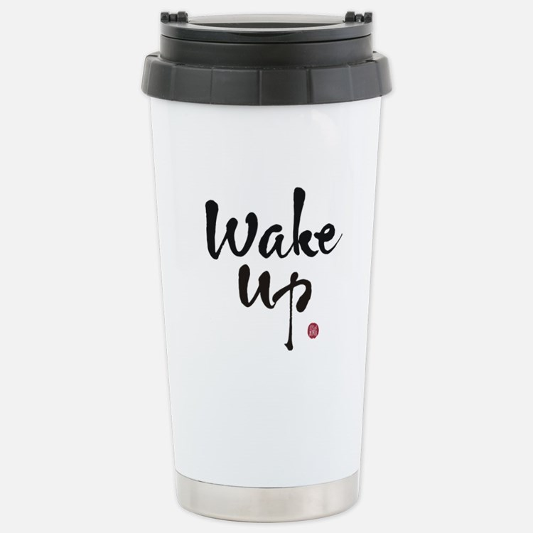 Cute Wake up Travel Mug