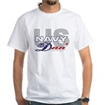 US Navy Dad White T-Shirt