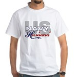 US Navy Husband White T-Shirt