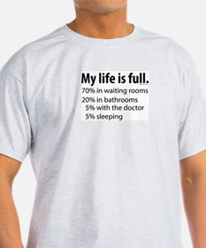 My Life is Full Ash Grey T-Shirt