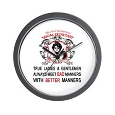 Funny Social manners Wall Clock