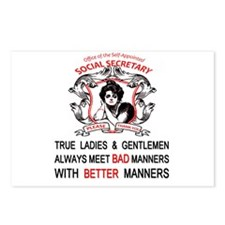 Funny Social manners Postcards (Package of 8)