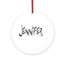 Jennifer Ornament (Round)