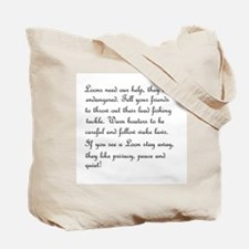 2-sided I love Loons! Tote Bag
