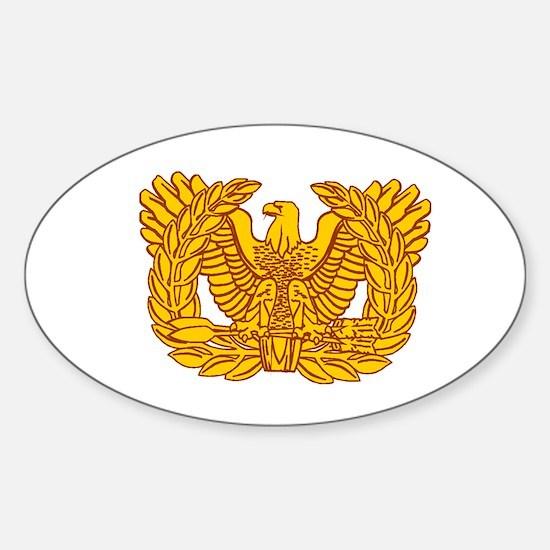 Warrant Officer Symbol Sticker (Oval)