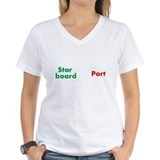 Port and starboard Womens V-Neck T-shirts