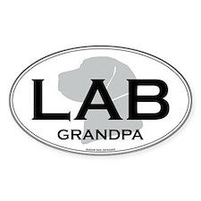 LAB GRANDPA Oval Decal