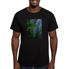 Sago Palm Fronds Men's Fitted T-Shirt (dark)
