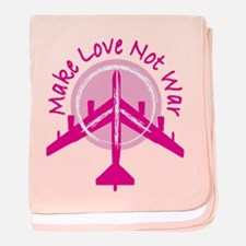 Make Love Not War Infant Blanket