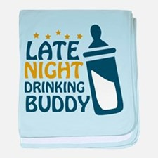 Late Night Drinking Buddy Infant Blanket