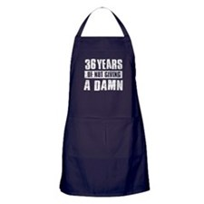 36 years of not giving a damn Apron (dark)
