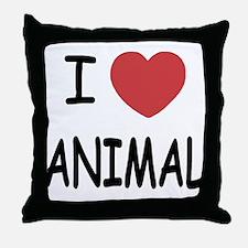 I heart Animal Throw Pillow