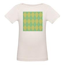 Green & Yellow Argyle Tee
