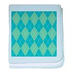 Blue & Green Argyle Infant Blanket
