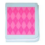 Pink Argyle Infant Blanket