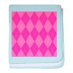 Pink Argyle Infant Blanket