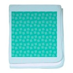 Teal Confetti Infant Blanket