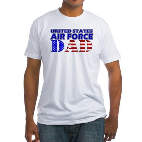 US Air Force Dad Fitted T-Shirt
