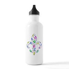 Baby Fleur de lis Hearts Water Bottle