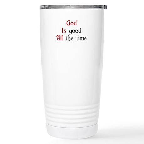 God Is Good Stainless Steel Travel Mug