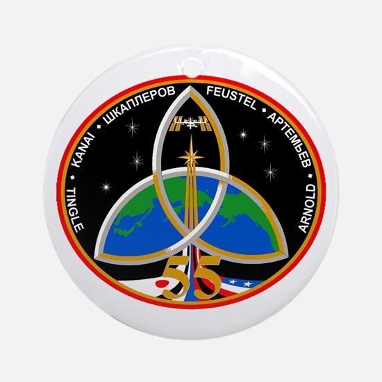 Expedition 55 Logo Round Ornament