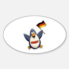 Germany Penguin Sticker (Oval)