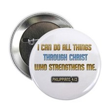 """Christ Strengthens Me 2.25"""" Button"""