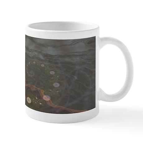 Midnight Bubbles Fractal Mug