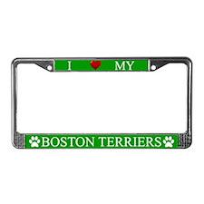 Green I Love My Boston Terriers Frame