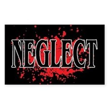 NEGLECT Rectangle Decal